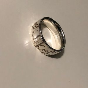 Authentic Coach Sterling Silver Ring